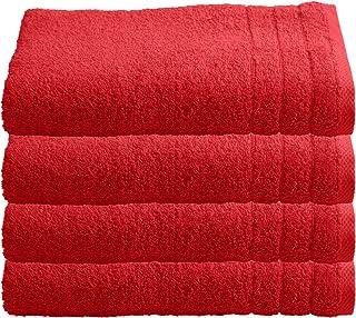 1e3439d6d3 4er Pack Handtuch Set in vielen Farben 100% Baumwolle 600g/qm² 1B-Ware