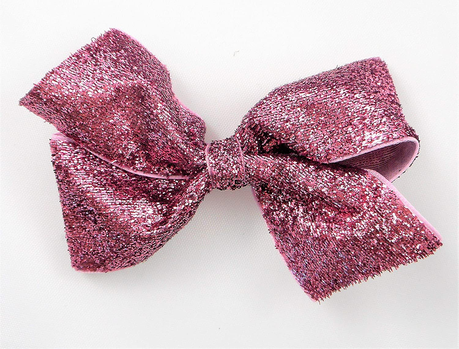 Light Spring new work Ranking TOP4 one after another Pink Glitter Ribbon Bow Hair