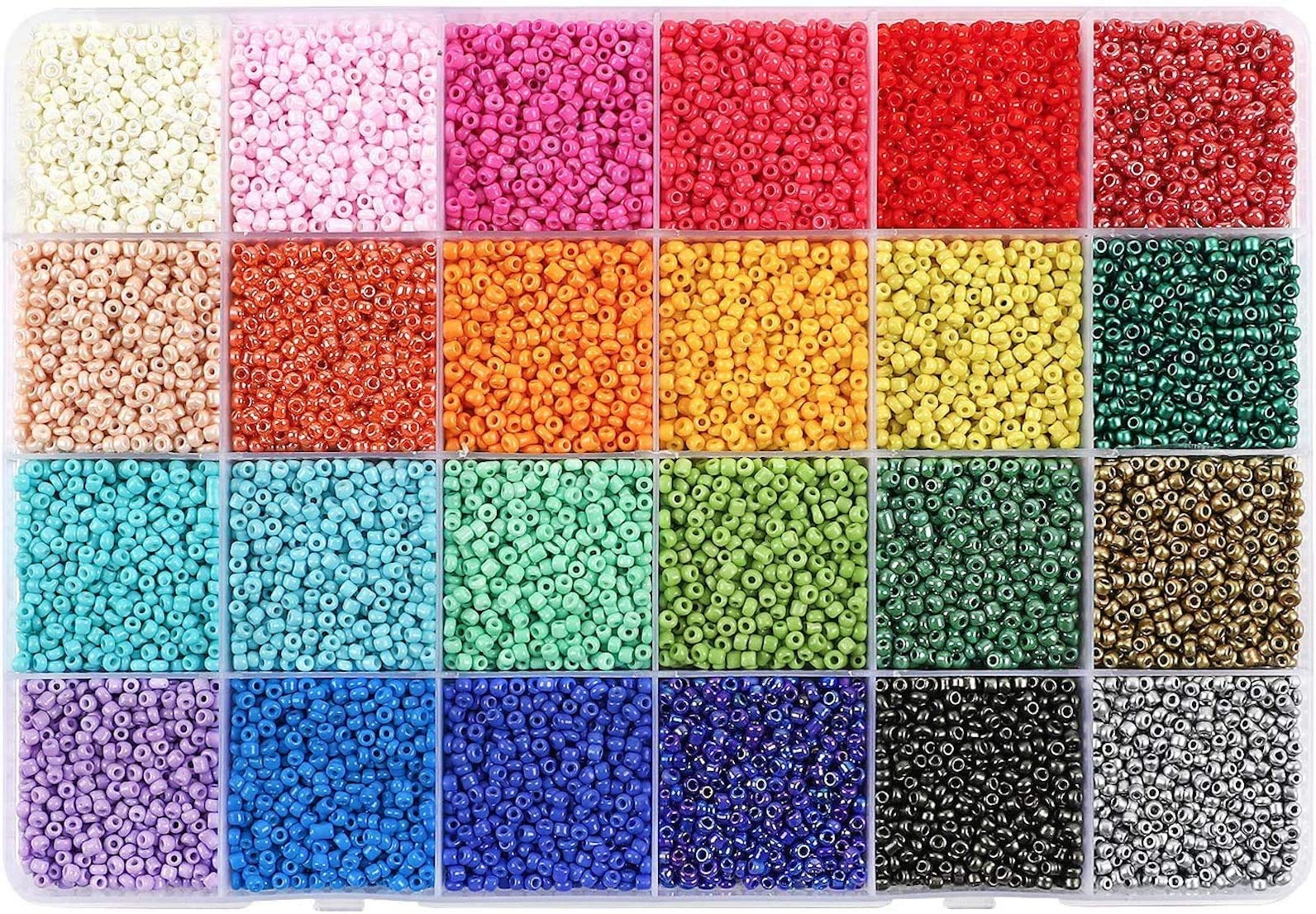 seed glass beads Macrame Supplies bright candy pink color 120 Opaque Glass Seed Beads small 1,5mm KB-K10 Earring Supply