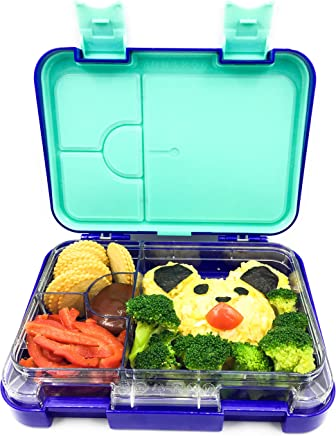 Abovego -Bento Box for Kids & Adults- BPA Free- Leak-Proof with Friendly Latches - Ideal for Portion-Control, Meal Prep and Healthy Balance Diet (Junior Blue)