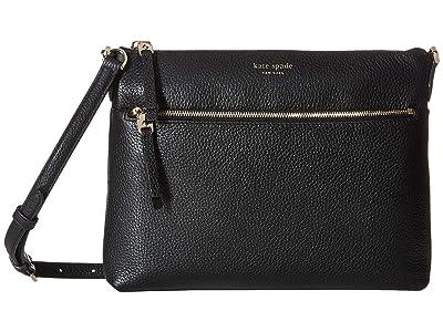 Kate Spade New York Polly Medium Crossbody (Black) Handbags