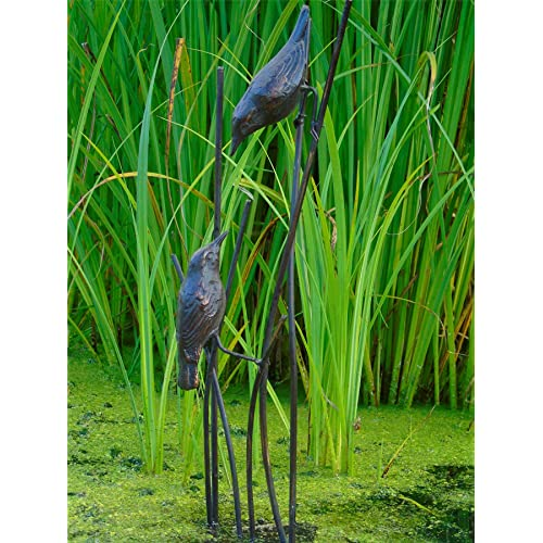Cast in Iron with an Aged Bronze Finish Sitting Cat Garden Statue