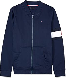 TOMMY HILFIGER Kids Flag Detail Zip-Up Sweatshirt