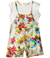 Junior Gaultier - Floral Romper with Purple Top (Infant)