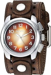 Nemesis Men's Gradient' Quartz Stainless Steel and Leather Casual Watch, Color:Brown (Model: BVSTH091B)