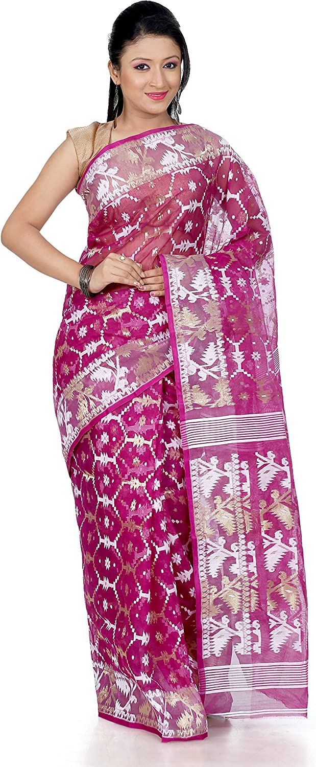 B3Fashion Cotton Silk Saree (Ags346_Magenta Pink)
