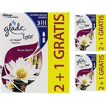 GLADE Relax Zen Ambientador Un Toque Aroma [Pack 9 uds], 3 ...
