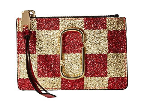 Marc Jacobs Snapshot Checkerboard Top Zip Multi Wallet