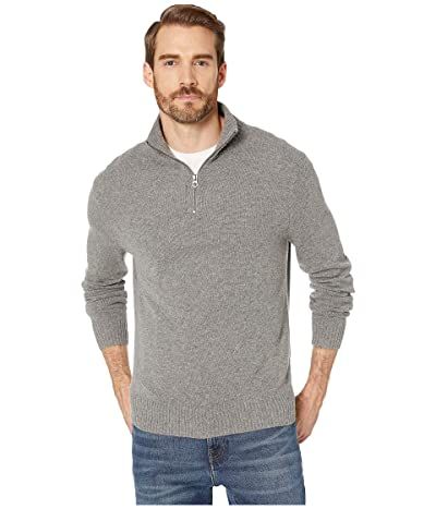 J.Crew Rugged Merino Wool Half-Zip Sweater (Heather Pewter) Men