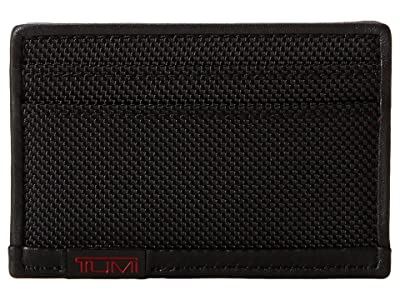 Tumi Alpha Slim Card Case (Black) Credit card Wallet
