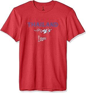 FIFA Officially Licensed Thailand Men's Tee, Red Heather, Medium