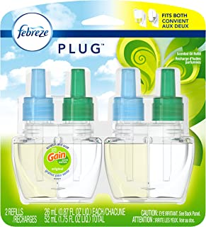 Febreze Plug In Air Freshener Scented Oil Refill, Gain Original Scent, 2 Count (Packaging May Vary)