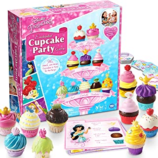 Wonder Forge Disney Princess Enchanted Cupcake Party Game For Girls & Boys Age 3 & Up - A Fun & Fast Matching Party Game Y...