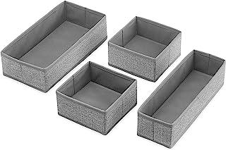 Whitmor - Juego de 4 organizadores para cajones de color gris