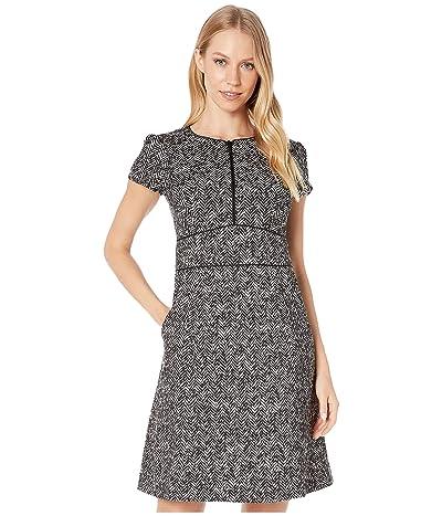 Nanette Lepore Herringbone Dress (Black) Women