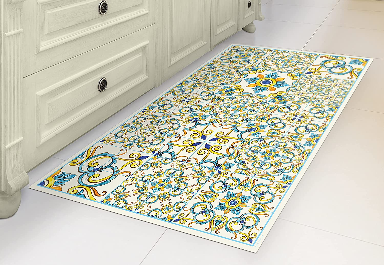 Los Angeles Mall IRI-GIRI Save money Vinyl Kitchen Floor Mat Linoleum Run PVC Rug Decorative
