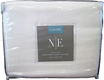 Noble Excellence Flannel Sheet Set (Full, Ivory)