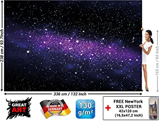 Children's Room Wall Mural – Galaxy Stars – Wall Picture Decoration Outer Space Sky Universe Cosmos Starry Sky Milky Way Super Nova Wallpaper Photoposter (132.3 x 93.7 Inch / 336 x 238 cm)