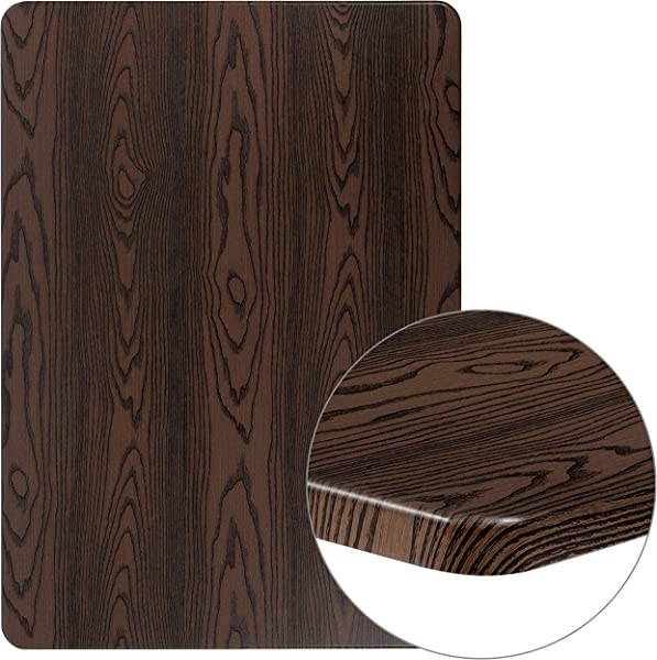 Flash Furniture 30 X 42 Rectangular Rustic Wood Laminate Table Top