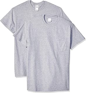 Men's Ultra Cotton Adult T-Shirt with Pocket, 2-Pack
