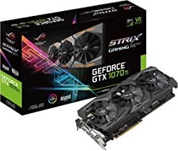 ASUS ROG Strix GeForce GTX 1070 Ti 8GB GDDR5 Advanced Edition VR Ready DP HDMI DVI Gaming Graphics Card (ROG-STRIX-GTX1070...