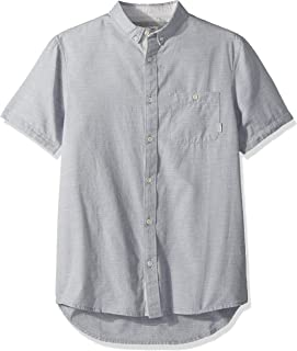 Quiksilver Men's WATERFALLS SHORT SLEEVE WOVEN Button Down Shirt