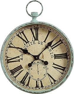 Creative Co-op Metal Antiquite De Paris Pocket Watch Wall Clock