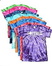 JANT girl Softball Tie Dye T-Shirt -Play Tough, Get Dirty White Logo
