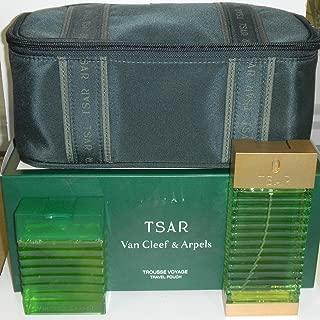 Van Cleef & Arpels Tsar Gift Set with Eau De Toilette Spray 100 Ml /3.4oz Travel Pouch