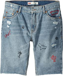 Levi's® Kids 511 Slim Fit Destroyed Denim Cut Off Shorts (Big Kids)