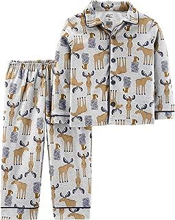 Baby and Toddler Boys' 2-Piece Coat Style Pajama Set