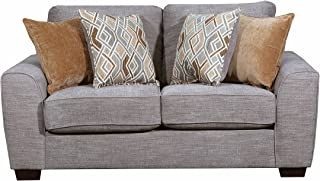 Simmons Upholstery 9770BR-02 Pompeii Silver Pompeii Loveseat, Coffee