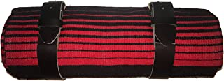 Red & Black Serape Bed Roll with Leather strap for Harley Davidson