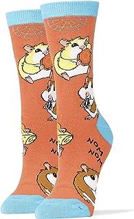 JYinstyle Funny Novelty Socks Womens Crew Hamster Noms