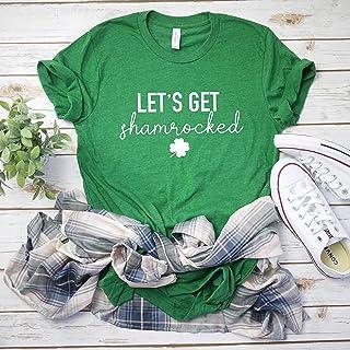 221964ece Lets Get Shamrocked Drinking Shirt Funny Drinking Shirt Lucky Shirt Women's  St Patricks day tee Shamrock