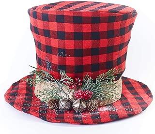 Plaid Top Hat Tree Topper - Unique Christmas Tree Decoration