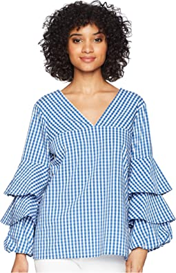 kensie - Gingham Check Top KS4K4674