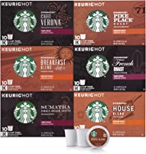 Starbucks Black Coffee K-Cup Coffee Pods — Variety Pack for Keurig Brewers — 6 boxes..