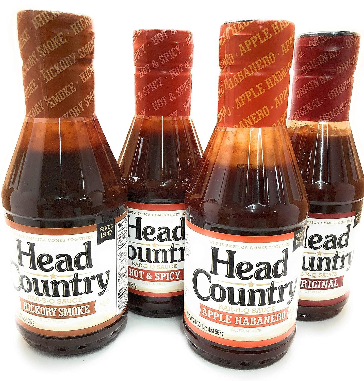 Head Country Barbecue New popularity Sauce San Antonio Mall Apple Sm Hickory Habanero Original