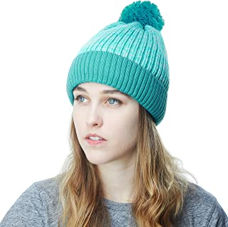 Exclusive Ribbed Knit Warm Fuzzy Thick Fleece Lined Winter Skull Beanie