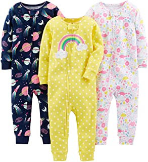 Baby Girl's and Toddler 3-Pack Snug Fit Footless Cotton...
