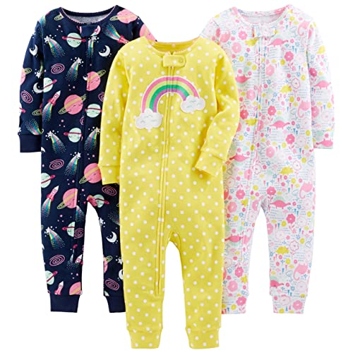 6b199db88 Simple Joys by Carter's Baby and Toddler Girls' 3-Pack Snug Fit Footless  Cotton