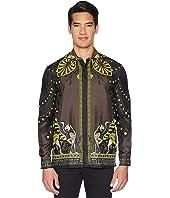 Versace Collection - Shpinx/Horse Print Silk Shirt