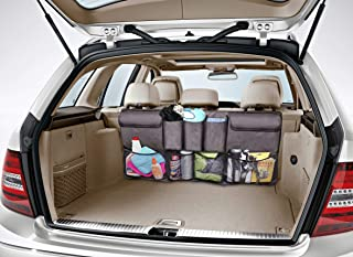 COOLBEBE Trunk Organizer Car Storage Auto Organizer with 5 Deep Pockets & 4 Pockets Mesh, Quality, Car Backseat Organizer for SUV Van Container