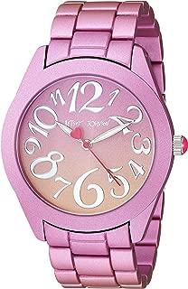 Betsey Johnson Womens BJ00706-02 - Pink & Orange Stainless Steel Case Watch