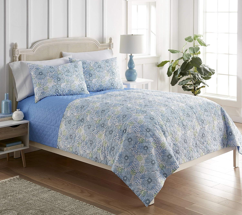 Shavel Home discount mart Products Seersucker 6-in-1 Quilt Bl Set Full Queen