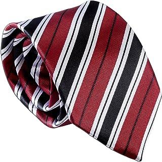 Boys美しい赤ストライプネクタイ、ユース45インチ