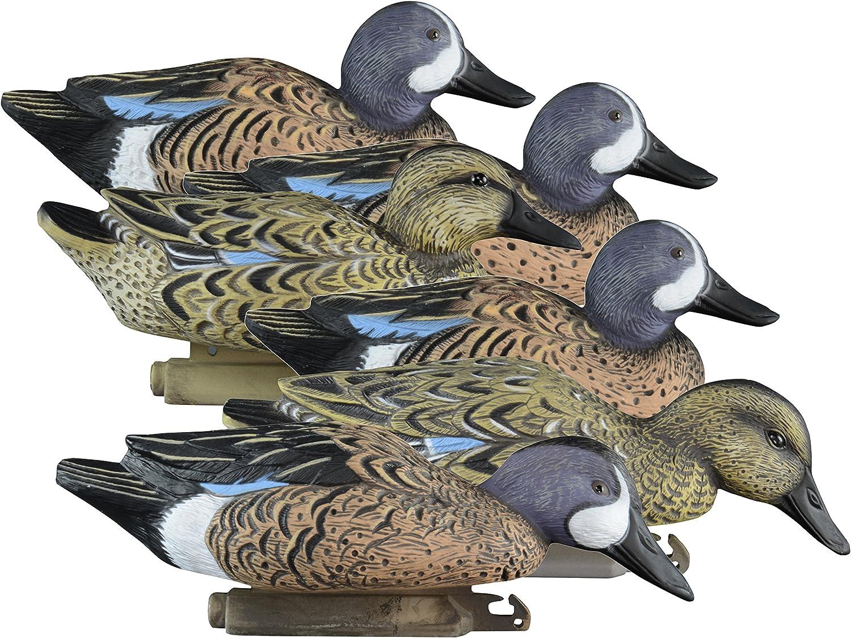Genuine Free Shipping Higdon Outdoors Louisville-Jefferson County Mall Standard Blue Wing Foam Teal Filled Duck Decoys