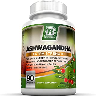 BRI Nutrition Ashwagandha - Premium Stress & Anxiety Relief w/ Energy Boost & Calm, Vegetable Cellulose Capsules (90 Count)