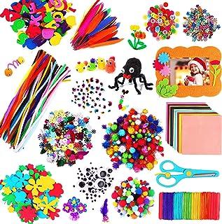 aovowog 1600+ Bricolage Enfant Cure Pipe Cleaners Crafts Kit,DIY Activites Manuelles Pompons Loisirs Creatifs,Jouets éduca...
